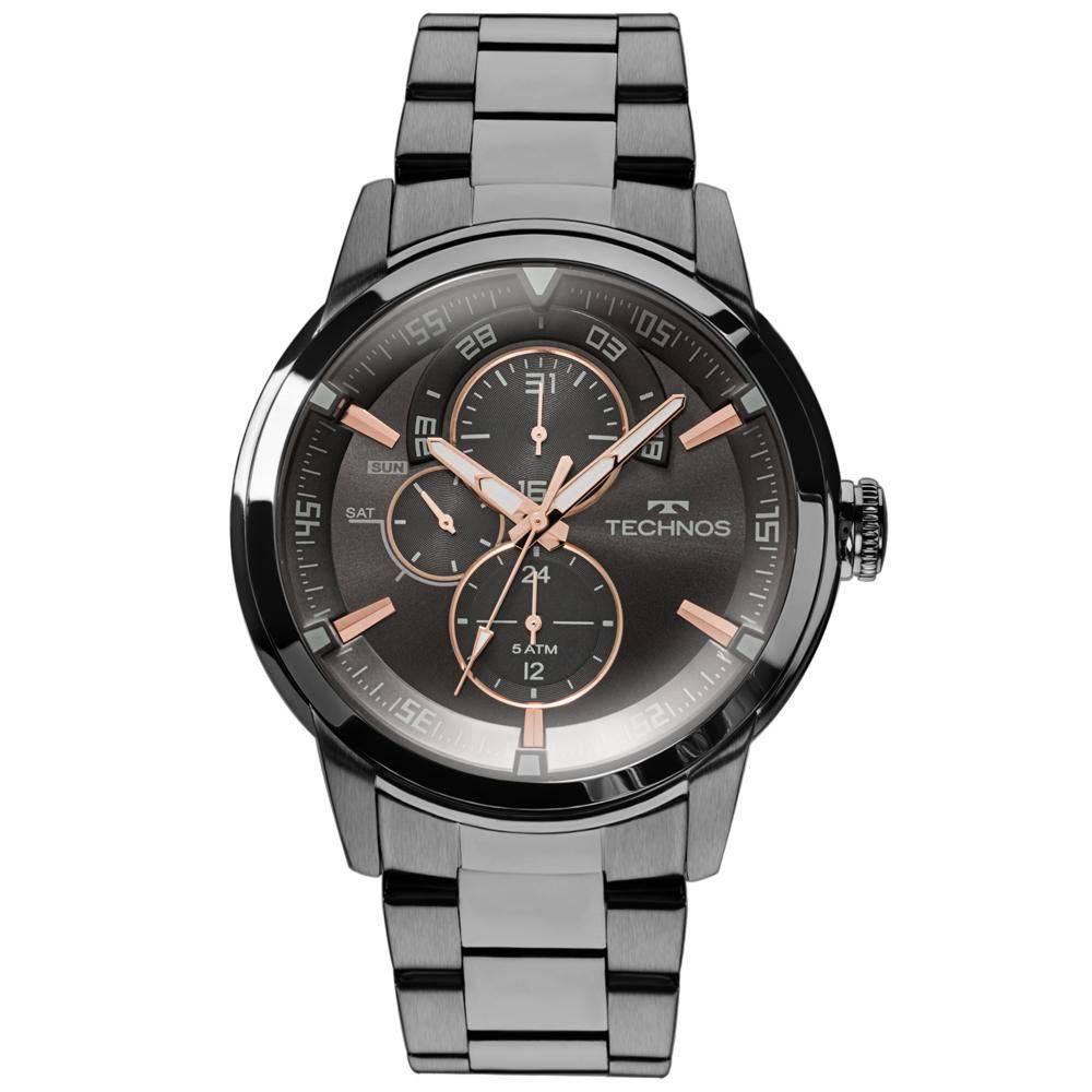 Relógio Technos Masculino Preto Classic Grandtech 6P57AB/4P