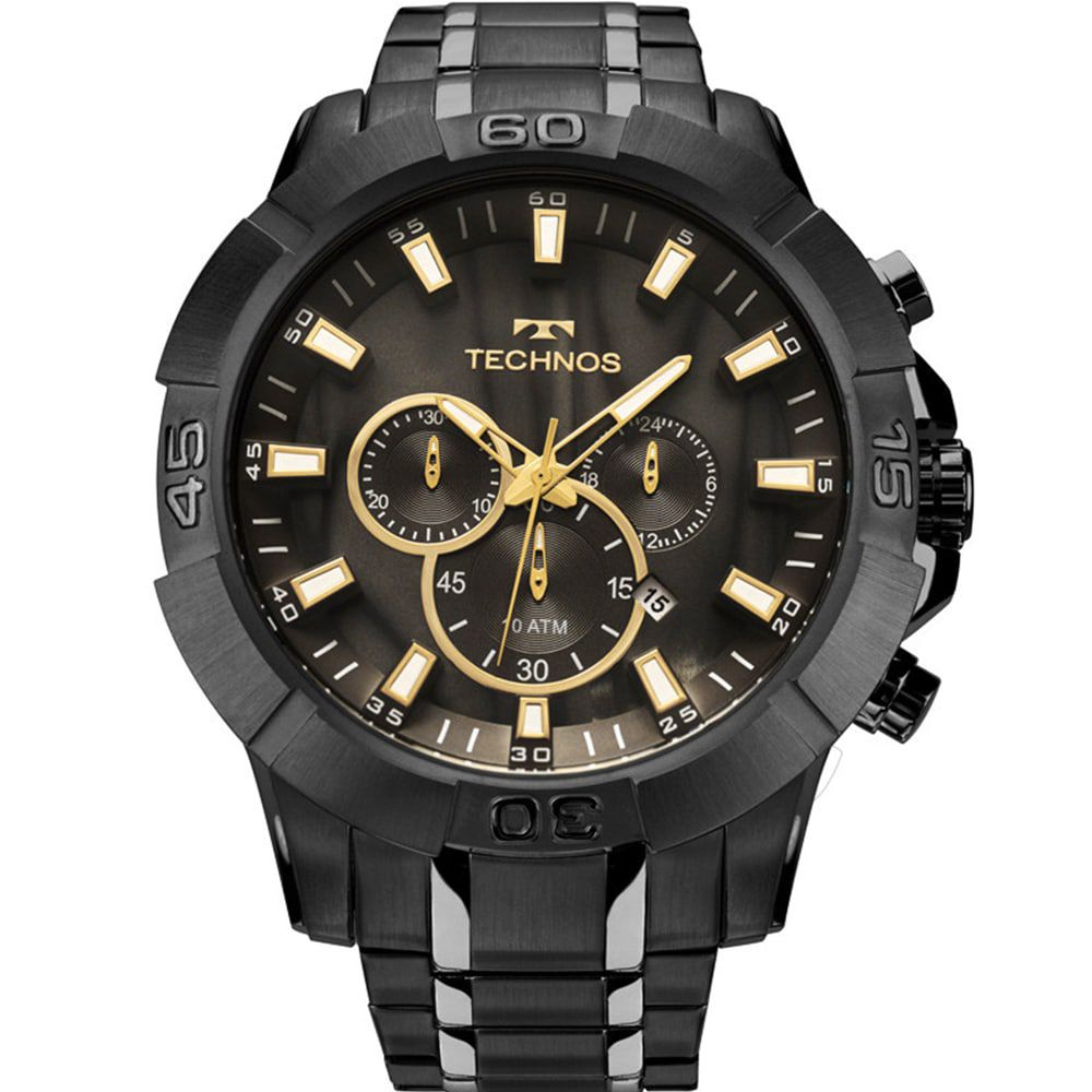 Relógio Technos Masculino Preto Legacy Cronógrafo JS26AG/4P
