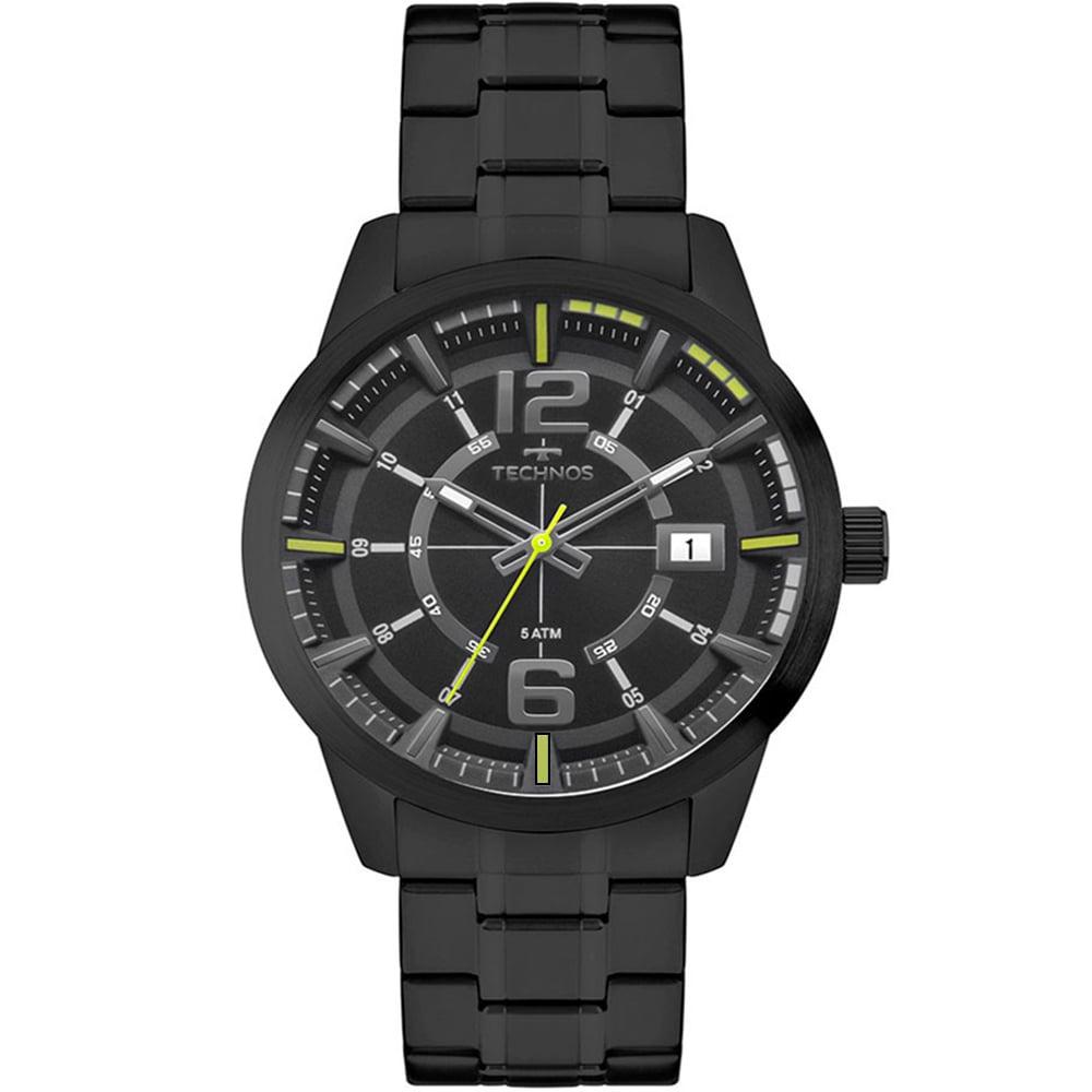 Relógio Technos Masculino Preto Performance Racer 2315KZV/4P