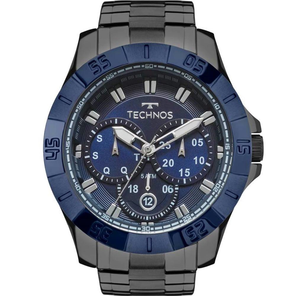Relógio Technos Masculino Preto Skymaster Performance 6P79BE/4C