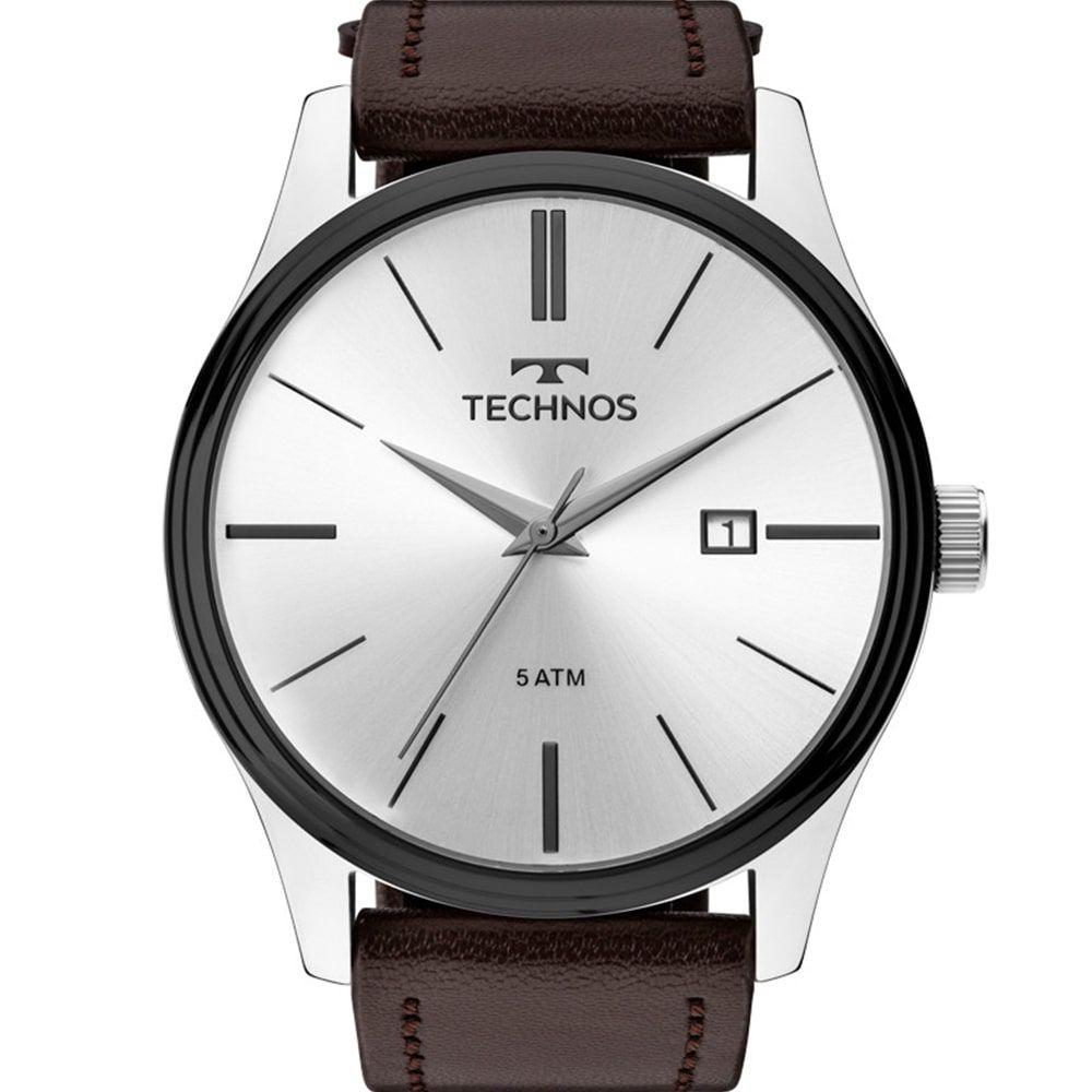 Relógio Technos Masculino Pulseira de Couro 2115MPP/1K