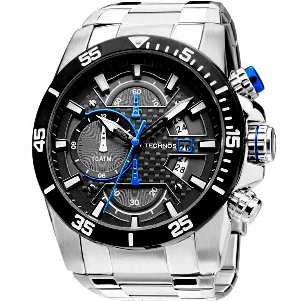 Relógio Technos Prata TS Carbon Masculino Analógico OS10ER/1A