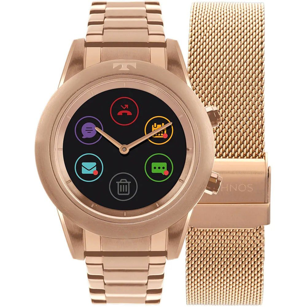 Relógio Technos Smartwatch Connect Duo Rose P01AE/4P