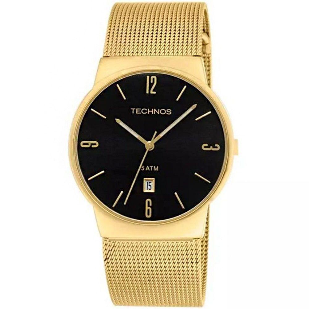 Relógio Technos Unissex Dourado Slim Analógico GM10IH/4P
