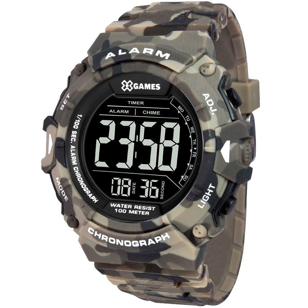 Relógio X Games Camuflado Masculino Xtyle Digital XMPPD488 PXEP