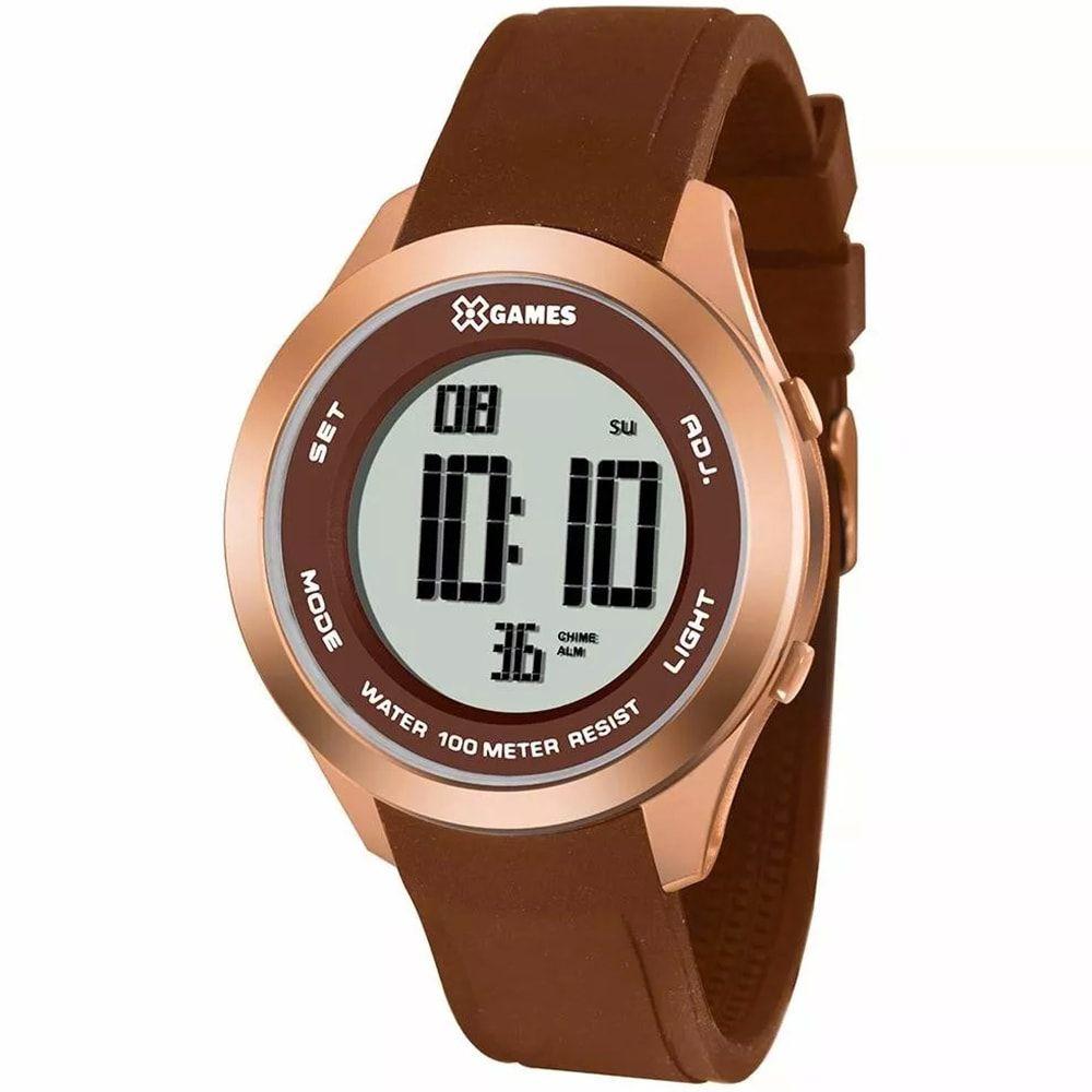 Relógio X Games Feminino Digital Marrom XMPPD390 BXMX