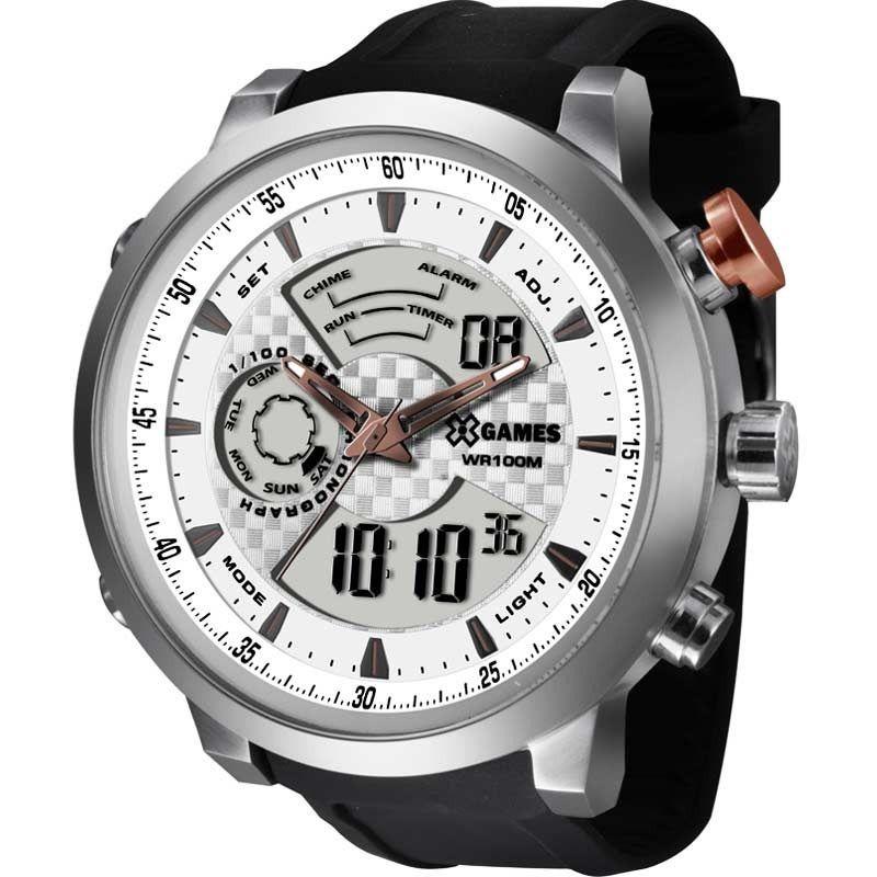 Relógio X Games Masculino Anadigi Prata XMSPA016 S2PX