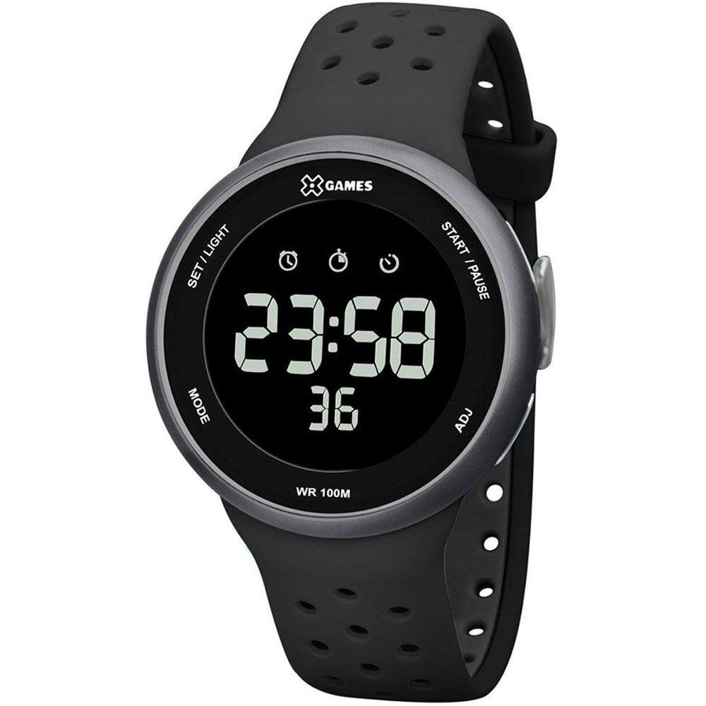 Relógio X Games Masculino Digital Preto e Cinza Esportivo XMPPD485 PXPX