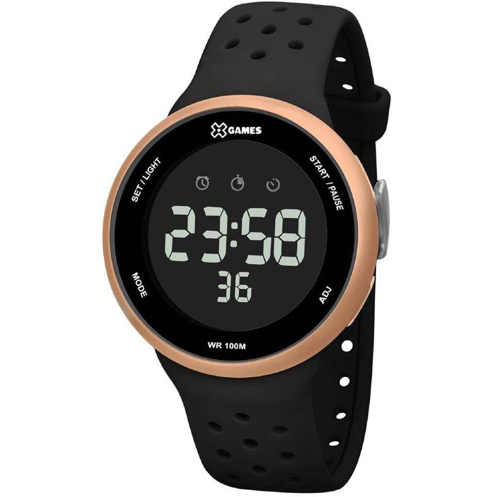 Relógio X Games Masculino Digital Preto e Dourado Esportivo XMPPD547 PXPX