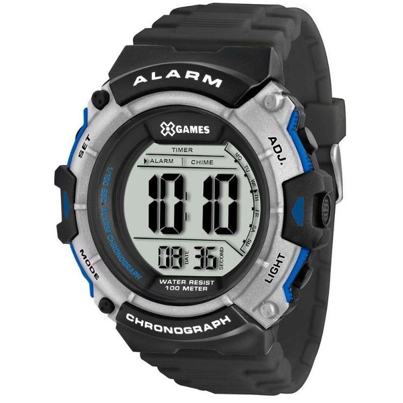Relógio X Games Masculino Digital Preto e Prata XMPPD314 BXPX