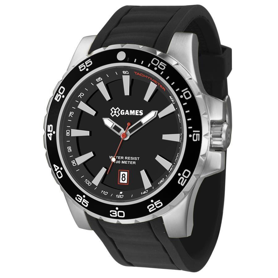 Relógio X Games Masculino Analógico Preto e Prateado XMSP1015 P1PX