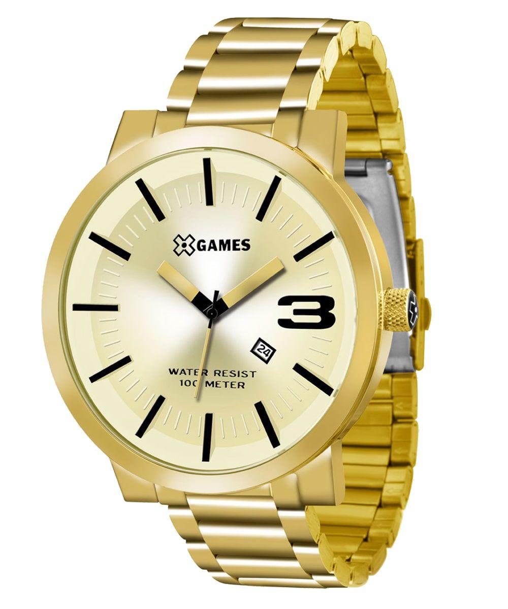 Relógio X Games Masculino Xteel Dourado XMGS1007 C2KX