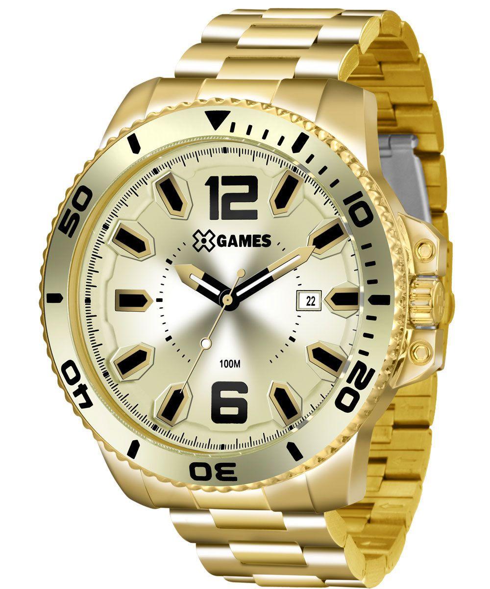 Relógio X Games Masculino Xteel Dourado XMGS1019 C2KX