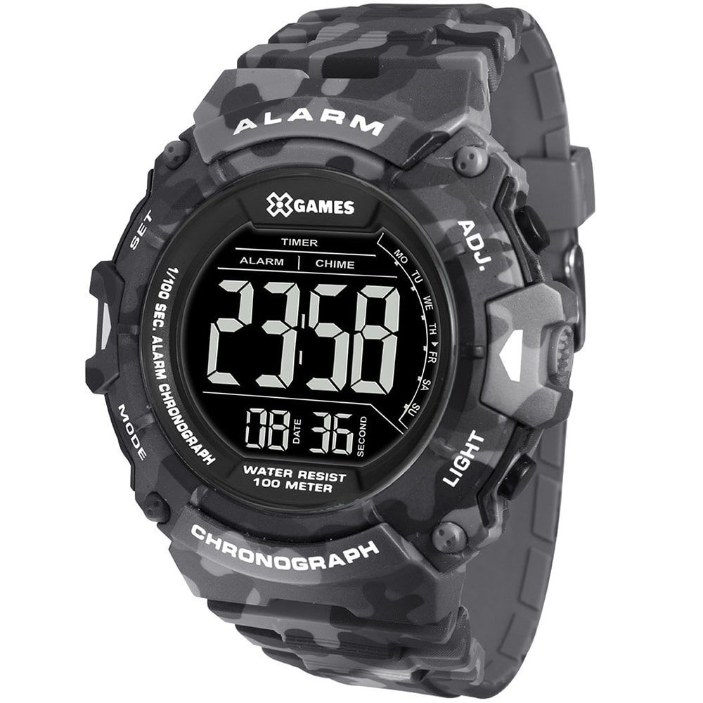 Relógio X Games Masculino Xtyle Digital Camuflado XMPPD487 PXGP