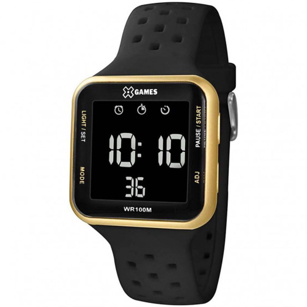 Relógio X Games Unissex Digital Dourado Negativo XGPPD093 PXPX