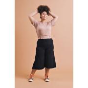 Blusa Plus Size Cropped Mia Nude