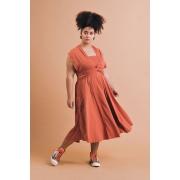 Vestido Plus Size Midi Liz Telha