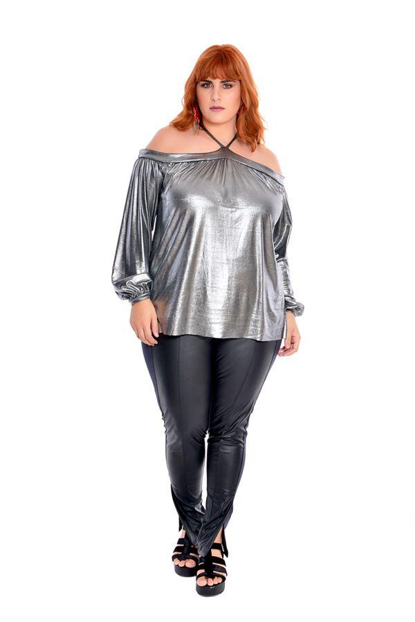 Bata Plus Size Metallic