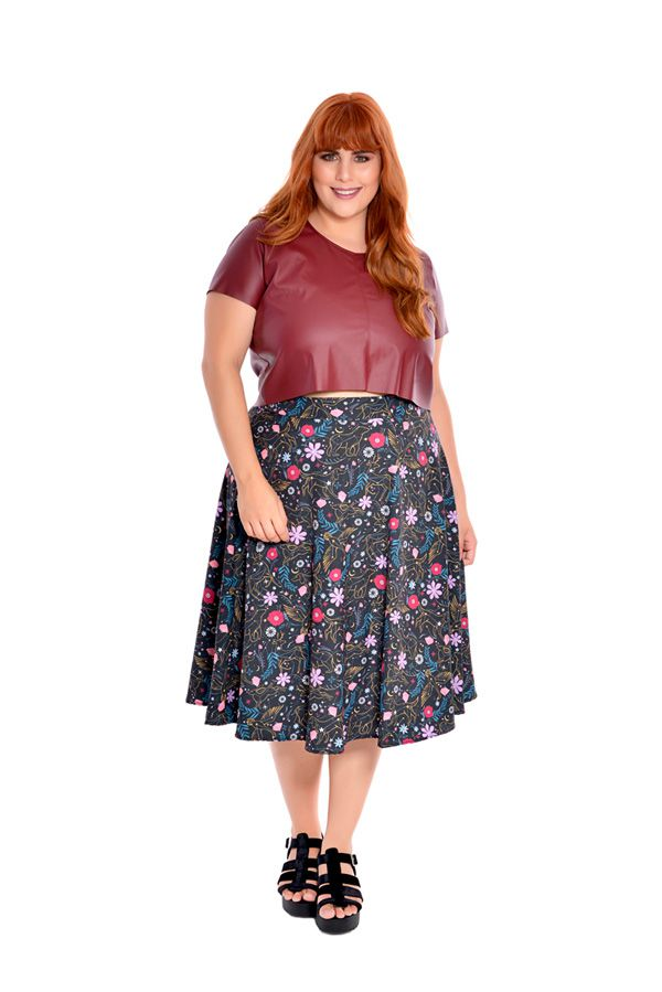 Cropped Plus Size Couro Scarlet