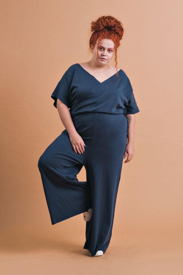 Macacão Plus Size Pantalona Eva Marinho