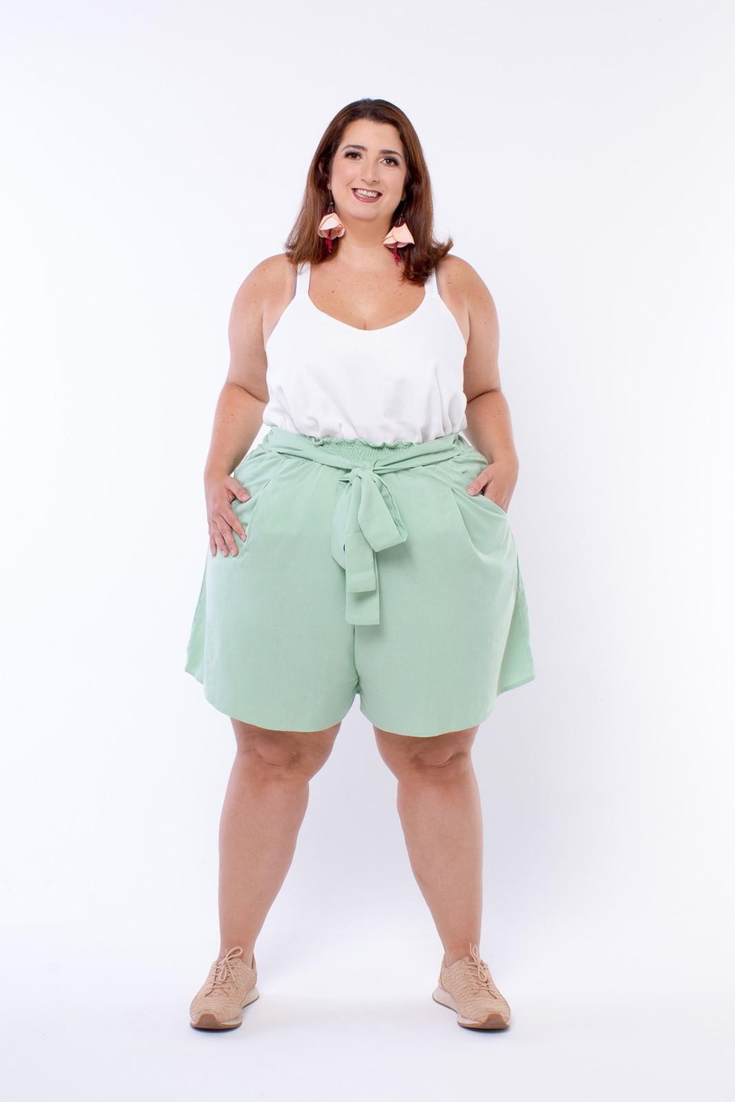 Shorts Plus Size Godê Yucca Menta