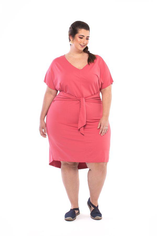 Vestido Plus Size Curto Cory