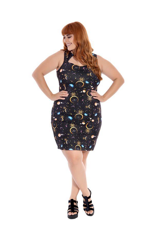 Vestido Plus Size Curto Luas I