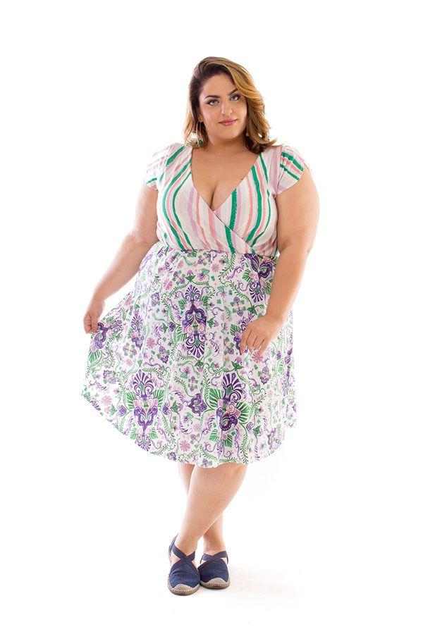 Vestido Plus Size Curto Napoli