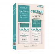 Kit Shampoo + Condicionador Alfaparf Alta Moda Cachos E Curvas 300ml