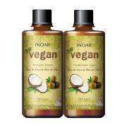Kits Kit Shampoo Condicionador Vegano Óleo de Coco e Óleo de Oliva 500ml - Inoar