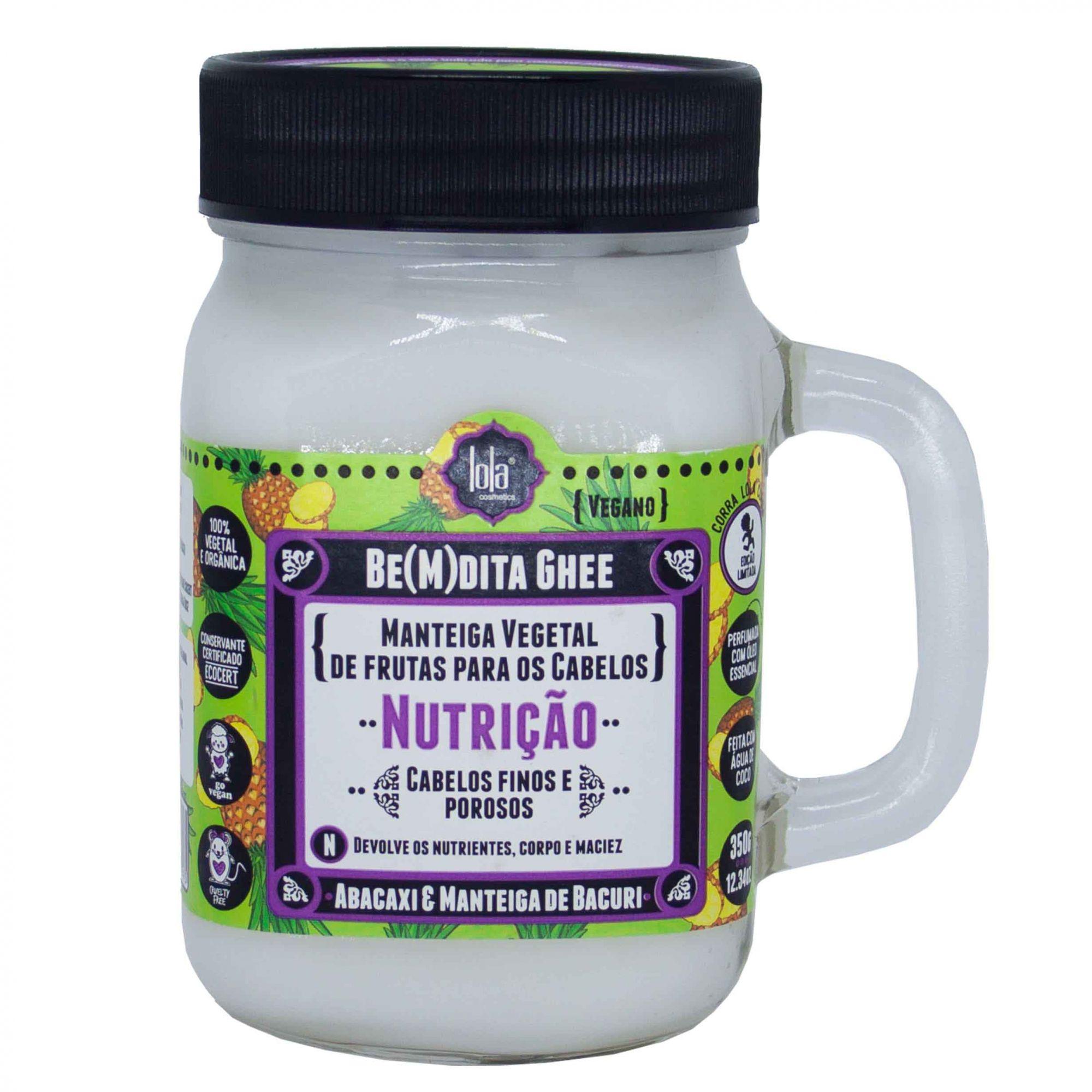 Be(M)dita Ghee Hidratação Banana e Aloe Vera 350g - Lola Cosmetics | Tamanho 350g