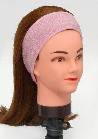 Faixa de Cabelo Atoalhada com Velcro Para Maquiagem e Limpeza de Pele