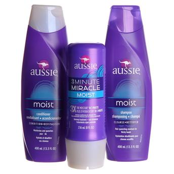 Kit Aussie - Shampoo 400ml +condicionador 400ml+ 3 Minute Miracle 236ml