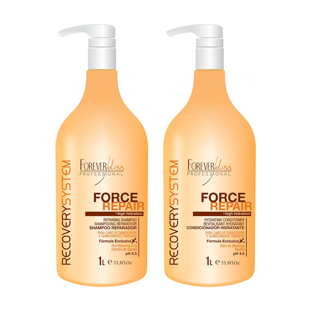 Kit Shampoo E Condicionador Force Repair Forever Liss 1l