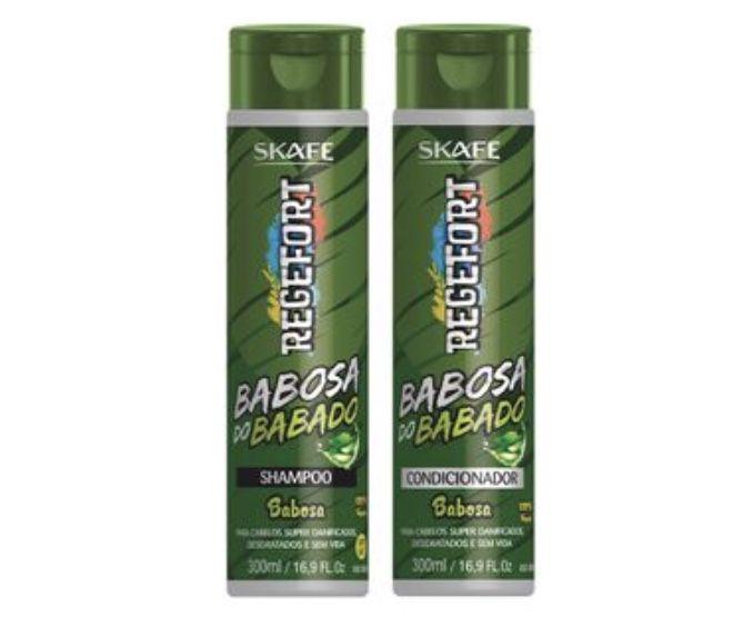 Kit Skafe Regefort Shampoo e Condicionador Babosa do Babado