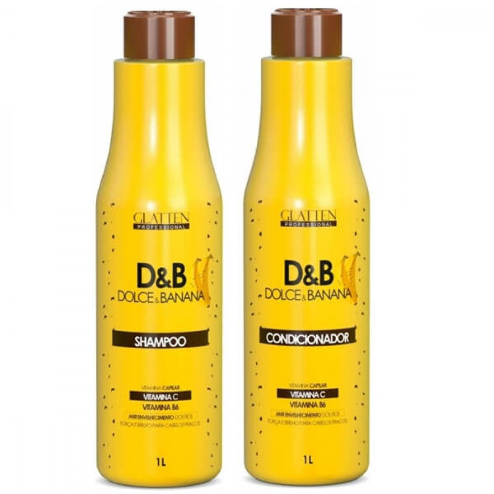 Kits Shampoo e Condicionador 1l Dolce Banana Glatten