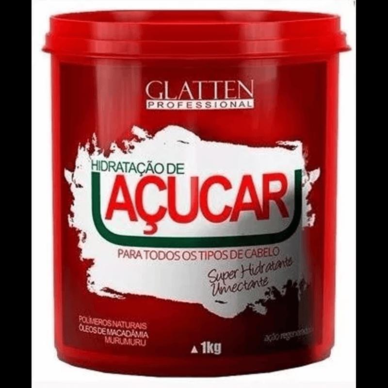 Reconstrução de Açúcar Glatten Professional Máscara de Hidratação 1KG