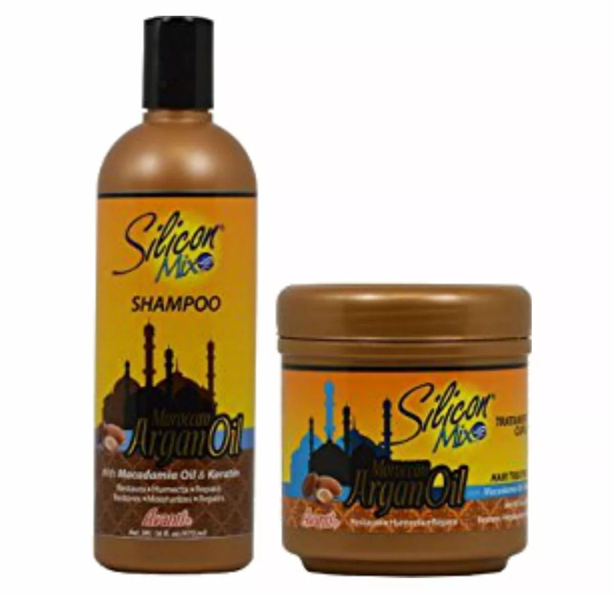 Silicon Mix Moroccan Argan Oil Shampoo 473ml + Máscara 450gr