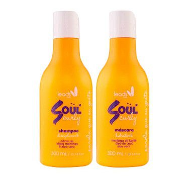 Soul Curly Shampoo + Máscara Disciplinante 300ml Leads Care