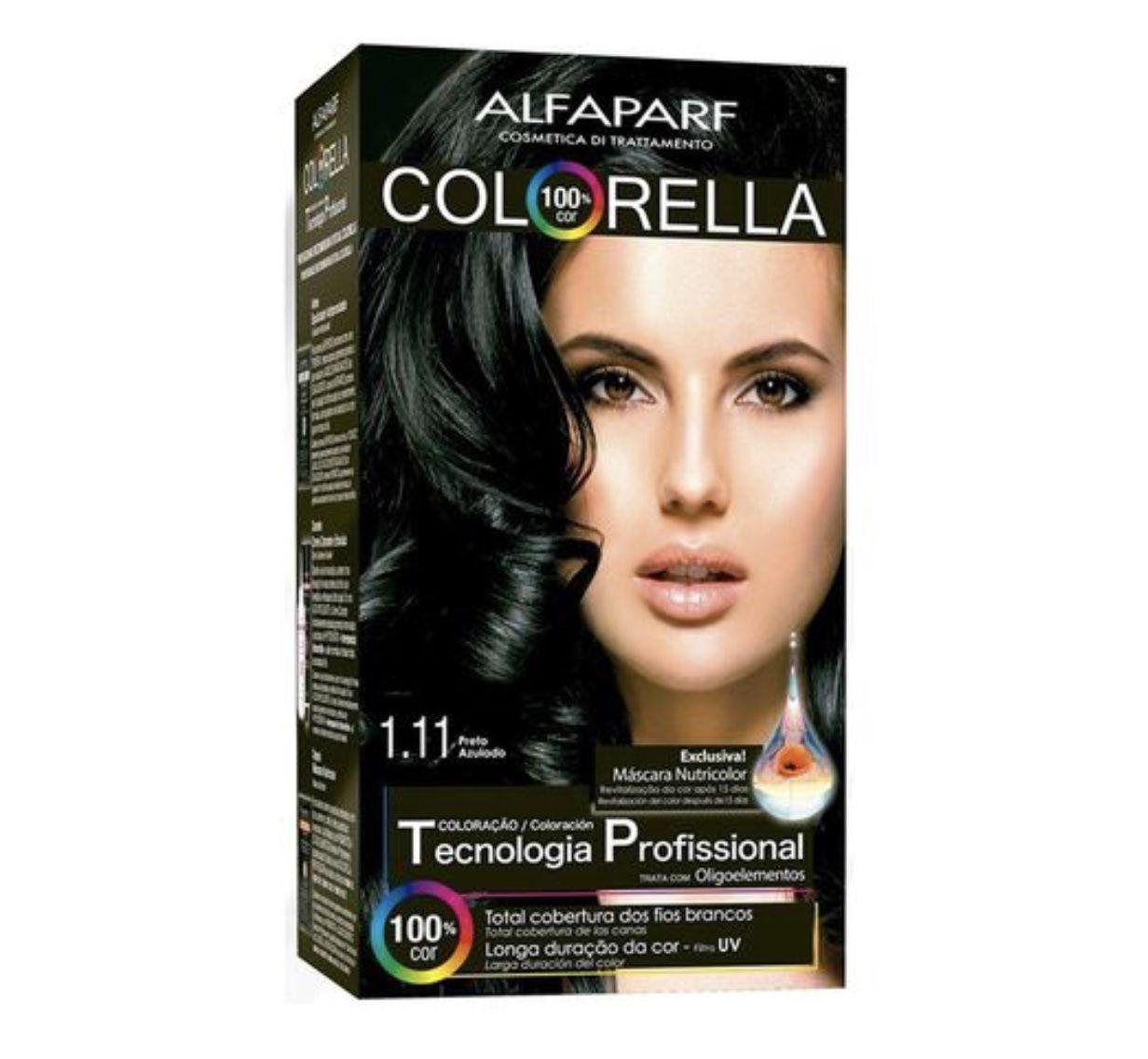 Tintura Alfaparf Colorella Preto Azulado 1.11