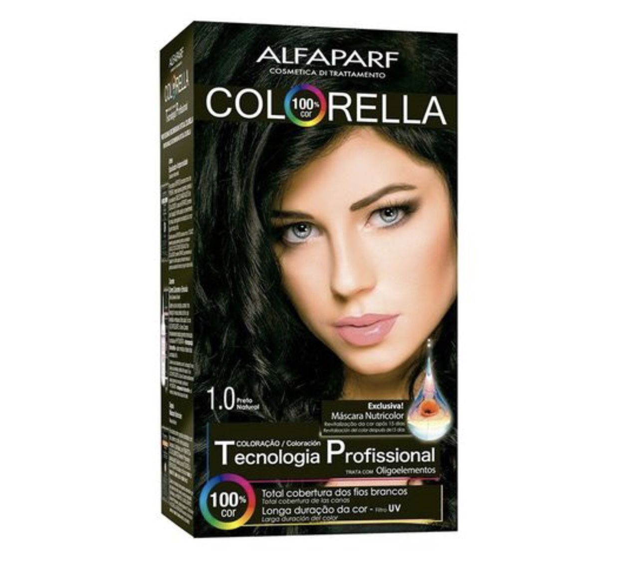 Tintura Alfaparf Colorella Preto Natural 1.0