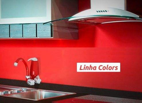 Torneira Filtro Purificador Vermelha Retrô, Cozinha, Pia