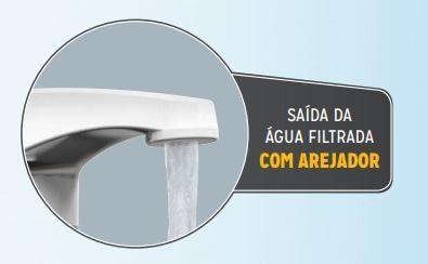 Filtro Torneira Purificador Preto / Dourado, Parede, Pia