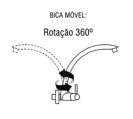 Torneira Preta Bica Móvel Pia Parede, Cozinha, Banheiro