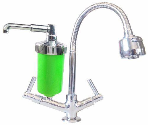 Torneira Flexí Verde C/ Filtro. Mesa, Pia,cozinha, Metal