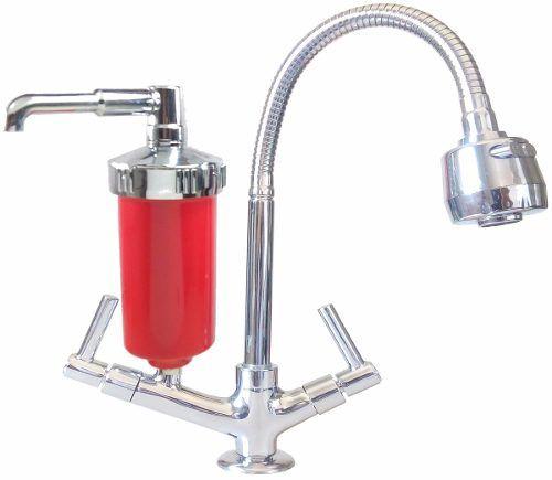 Torneira Flexí Vermelha C/ Filtro. Mesa, Pia,cozinha, Meta
