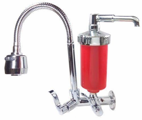 Torneira Gourmet Vermelha Luxo Metal C/ Filtro, Pia, Cozinha