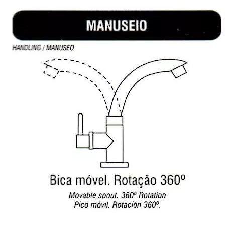 Torneira Amarela Bica Móvel. Mesa, Lavatório, Pia. Banheiro