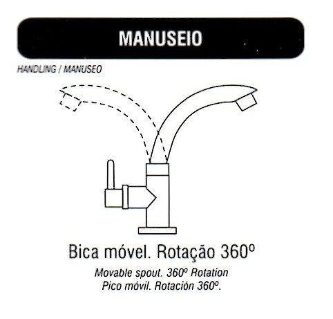 Torneira Bica Movél Preta Lavatório, Pia, Banheiro, (mesa)