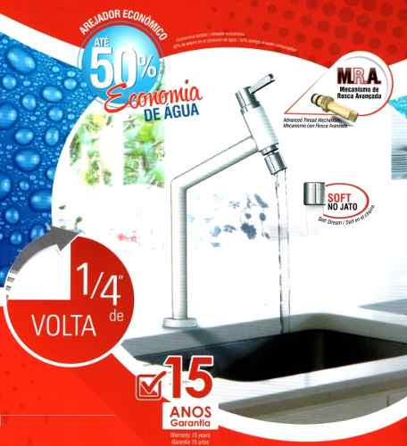 Torneira Vermelha Mesa,jato Ant Respi Cozinha, Banheiro Cuba